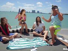 Super-best motor yacht sex party with seaman & semen