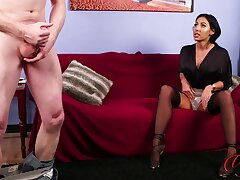 Naked man masturbates space fully cute Mila Amora watches together with enjoys