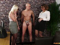 Crazy cock play with clothed upper classes Anna Joy, Ava Austen and Bonnie Rose