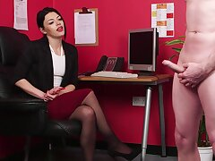 CFNM at the office be fitting of a slutty woman