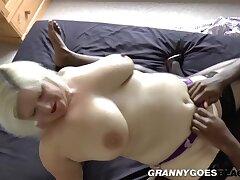 Pussy Pounded Granny Titfucks Black Dong - Mature