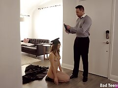 Stepdad comes and fucks brand-new college girl