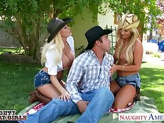 Appetizing busty blonde babes would carry the all round enjoy oral petting into the open air