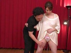 Sensual Japanese MILF throated and jizzed