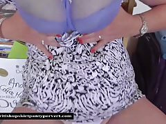 The British Upskirt Panty Pervert visits Auntie Shirley