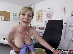 busty granny gets pov fucked by her doctor