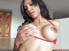 Latina mummy with a fit setting up is a globe mixed bag cocksucker