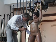 Latina milf with saggy tits, striking dominance