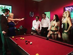 Angel Cassidy coupled with her slutty Theatre troupe fuck just about a public orgy