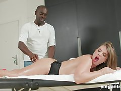 Prex MILF Sexy Suzy massaged and ass fucked by a black guy