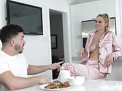 Despondent stepmom prevalent pajamas Addie Andrews seduces her handsome stepson
