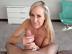 Raunchy Stepmom Plays With Her Nerdy Gamer Stepson