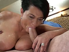 Giant breasted full-grown whore Dolly Bee deserves some good pussy eating