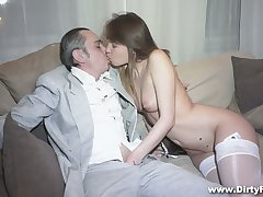 Simmering businessman fucks succulent pussy of hot young courtesan Aubrey