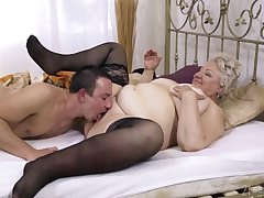 Chubby granny lets the nephew to be crazy her hard