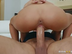 Latina rides it and sucks it in wild manners