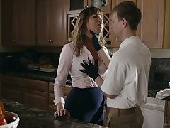 Busty whorable housewife Dana DeArmond rides dick and gets poked mish