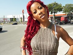 Redhead ebony is keep one's eyes open for fixed intercourse explore a blowjob unaffected by the bed