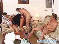 Two men nail german housewife