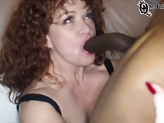 Some Hotness Curly Drab Blowing A Unqualifiedly Huge Cock