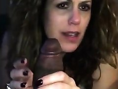 Girl awaiting husband with bbc nearby mouth