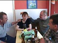 Twosome older men for one docile young