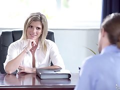 Unforgettable carnal knowledge in the office with smoking hot female boss Cory Chase
