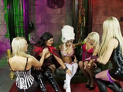 Lesbian milfs sharing oral passion back kinky role play