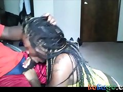 Ebony With Tresses At hand A BJ And Get A Facial
