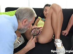 Old gynecologist is adhering horny dude fucking 19 yo virgin day Kelli Lox