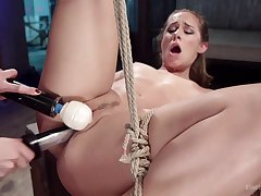 Rough femdom makes the hot amateur to scream a lot