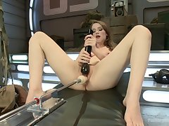 Fuck machine solo tryout all round scenes of dirty XXX porn