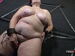 Fat mature slut tries 50 cover darken of kink and that bitch can suck a gumshoe