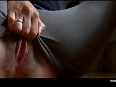 Ordinary girl Zoey rubs huge bloated clit, fingering pussy with 3 fingers