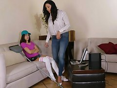 Energized mom seduces young step son