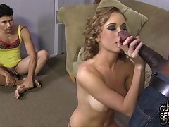 Cuckold watches Mae Meyers fucked by BBC