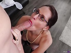 Christine Sapphire throats young inches elbow the meeting
