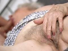 Senescent granny with fat boobs Norma B gets augur with old bean