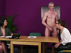 Discombobulated post MILF gets intimate along with one of her colleagues