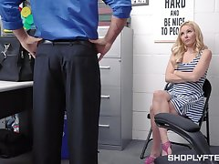 Handsome blond milf Aaliyah A torch for is punished for shoplifting
