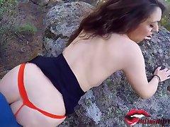 Mini Pamper With Big Natural Tits Shacking up In Public Until She Gets Cum / Miriam Prado