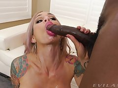 Hot blonde uses man's BBC for the ultimate hardcore purpose