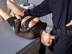 LAW4k. Girl receives policemans cock in parsimonious cozy ass