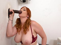 Smooth oral together with pussy action through the glory hole beyond everything a BBC