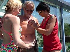Darina coupled with Ivana Kourilova share an old man to get their kicks