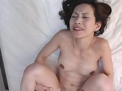 Natural Bristols Asian cougar gets her pussy fucked in missionary