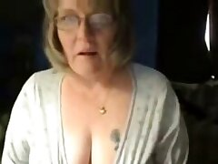 Dirty granny has entertainment on web cam. Amateur elder statesman