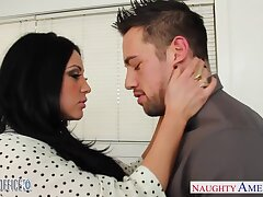 Awesome and steamy sex of Audrey Bitoni and Johnny Manor-house is arousing