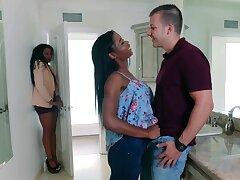 Mya And Her Stepmom ebony threesome porn video
